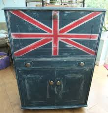 painted furniture union jack autumn vignette. All Things Furniture Features \u0026 Party #11...and Your Help. Union Jack Painted Autumn Vignette