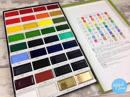 Gansai Tambi Color Chart Kuretake Gansai Tambi Watercolors