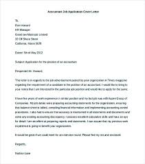 good cover letter template cover letter job application samples accountant job application