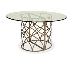 dining room modern dining table idea using round glass tabletop in dining table pedestal base