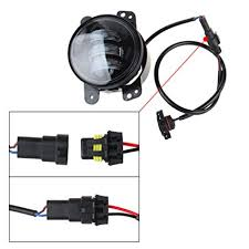 amazon com led fog lights lamp adapter wires for 2010 and up jeep amazon com led fog lights lamp adapter wires for 2010 and up jeep wrangler jk automotive