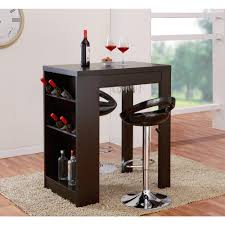 Image Glass Salen 3shelf Cappuccino Bar Table Amazoncom Builtin Wine Rack Kitchen Dining Room Furniture Furniture