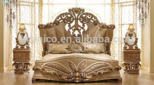 Luxurious European Rococo Wooden Bedroom Set/Palace Royal Hand Carved Bedroom  Furniture(MOQu003d