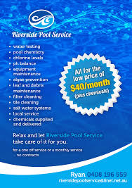 Pool service ad Sea Flyer Design By Charlottej For This Project Design 652193 Designcrowd Serious Modern Pool Service Flyer Design For Company By
