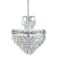 5 light crystal chandelier searchlight in chrome finish ramsgate