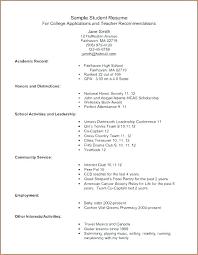 Activity Resume Templates College Student Resume Template Activities Templates Co Activity