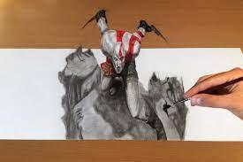 Trick Art, Drawing 3d - God Of War ...