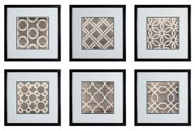 framed wall art set of 6