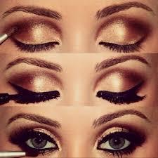 bronze smokey eyes tutorial