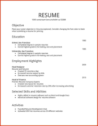 Simple Resume Format Free Download In Ms Word Free Word Format