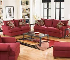 Microfiber Living Room Set Delightful Decoration Red Living Room Chairs Majestic Red