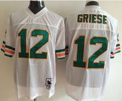 In Bob Jerseys Griese White 12 Nfl Ness Top Throwback Quality And Big Sale Stitched Discount Mitchell Dolphins