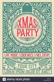 Retro Holidays Retro Christmas Party Invitation Holidays Flyer Or Poster Design