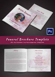 Free Word Brochure Templates Download Funeral Brochure Templates Free Download 30 Funeral Program Brochure