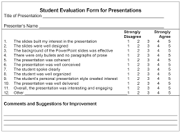 Powerpoint Presentation Evaluation Form Use Clear Criteria And Methodologies When Evaluating Powerpoint