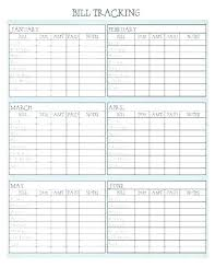 Bill Tracker Template Excel Monthly Bill Tracker Template Bill Sheet Template Monthly