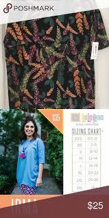 Floral Irma Beautiful Irma Shirt See Size Chart Lularoe