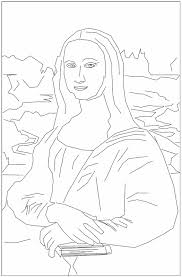 Small Picture Amazing Mona Lisa Coloring Page 68 For Free Colouring Pages With