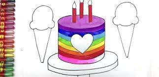 How To Draw A Easy Cake Chocolate Drip Cake Draw So Cute Birthday
