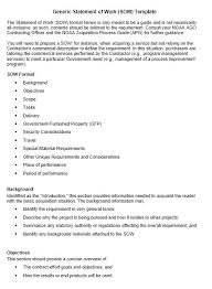 Simple Statement Of Work Template Sow Template 9 Project Management Statement Of Work Co Software