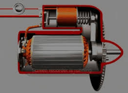 How the starter solenoid both engages power to the starter motor and