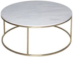 westminster white marble round coffee table with brass base cfs furniture uk