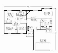 4 bedroom 2 bath 1 story house plans best of 4 bedroom floor plans e story