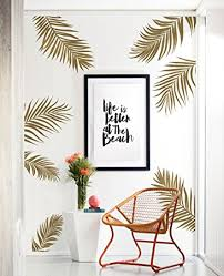 Small Picture Amazoncom Palm Leaves Wall Decal Gold Metallic by Simple
