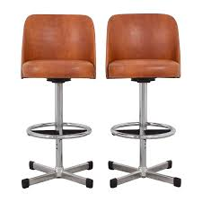 samsonite vintage orange leather bar stools samsonite