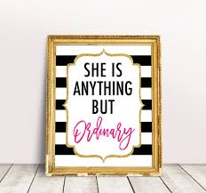 Kate Spade Quote Print She Is Anything But Ordinary Kate Spade