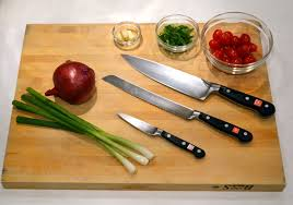 cutting board with food. Kitchen Guide For Home Cooks Part I \u2013 Knives, Cutting Boards And Bowls Board With Food
