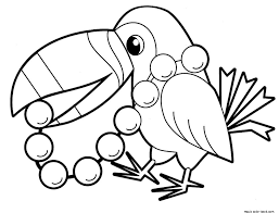 Small Picture Parrot bird coloring pages online free