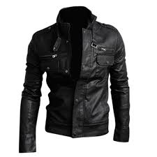 nwt premium men s slim top designed y pu leather short jacket coat black size l