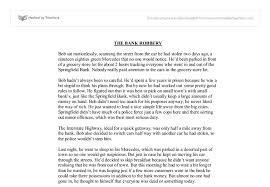 the bank robbery creative writing gcse english marked by  document image preview
