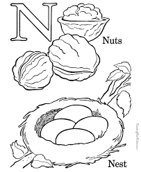 my a to z coloring book letter n coloring page coloring