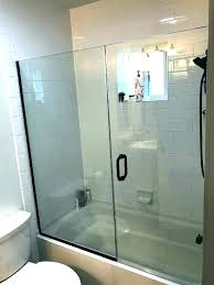 bathtub glass doors frameless toronto installing a shower door install