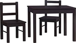 ameriwood home hazel kid s table and chairs set espresso