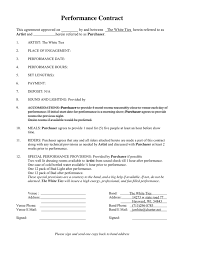 Performance Contract In Word And Pdf Formats