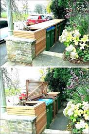 hide trash can outside hide garbage cans creative ways to outdoor hideaway panels trash can kitchen