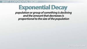 exponential decay examples definition