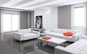 Contemporary Living Room Furniture Ideas With White Leather Sofa Set