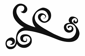 Simple Scroll Designs Swirl Clipart Simple Flourish Png