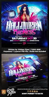 Costume Contest Flyer Template Halloween Madness Square Flyer Template Photoshop Psd