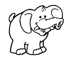 Elephant Pictures To Color Baby Elephant Coloring Page Cartoon Pages