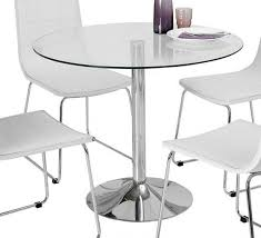 wilkinson furniture orbit 90cm clear glass round dining table first furniture