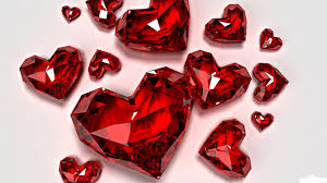 3d diamond hearts