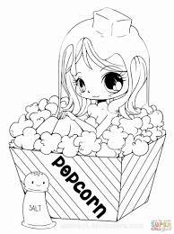 Beautiful Kawaii Anime Coloring Pages Ishagnet