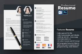 Creative Resume Template With Microsoft Word And Photoshop Free
