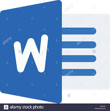 microsoft word icon microsoft word stock vector art illustration vector image