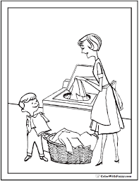 Mom Coloring Pages At Getdrawingscom Free For Personal Use Mom